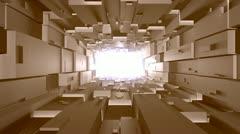 Futuristic greeble tunnel Stock Footage