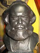 Karl marx bronze bust Stock Photos