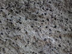 Gritty Speckled Rock Wall Closeup Texture - stock photo