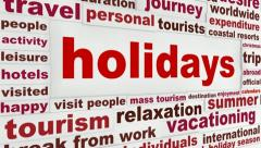 Holidays creative message - stock footage