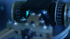 Robotic Arm & Gears - Speed Ramp Stock Footage