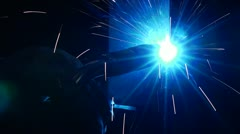 Welding-Close Up Stock Footage