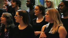 gospel choir singing pan man conducts - stock footage