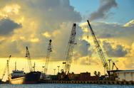 San Andres Port Stock Photos