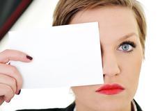 woman with big eye concept - stock photo