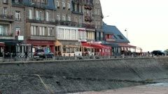Seaside town - Cancale France Stock Footage