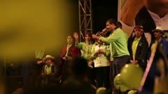 BANOS, ECUADOR - 21 JANUARY 2013: Rafael Vicente Correa Delgado president of Stock Footage