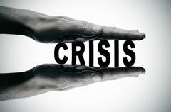 crisis - stock illustration