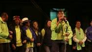 BANOS, ECUADOR - 21 JANUARY 2013: President of Ecuador Mr. Rafael Vicente Correa Stock Footage