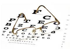 Eye chart Stock Illustration