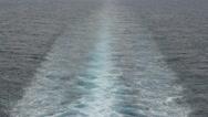 HD Stock Footage 1080p - Cruise Ship Wake - Medium, Long trail Stock Footage