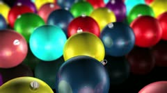 Christmas Ornaments - stock footage
