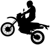 Dirtbike silhouette - stock illustration