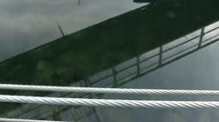 Marina Gangway Reflection Stock Footage