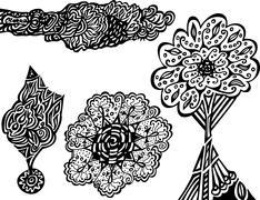 Unique doodles Stock Illustration