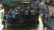 Stock Video Footage of Boats at Traditional Docks, Vietnam