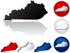State of Kentucky icons Stock Illustration