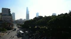 Dawn Skyline in Saigon, Vietnam Stock Footage