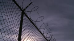 Security Fence Stock Footage