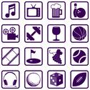 Stock Illustration of Recreation icons