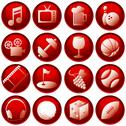 Stock Illustration of Recreation icon buttons