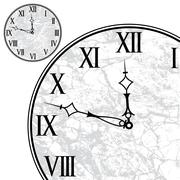 Clock face with roman numerals - stock illustration
