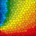 Stained glass rainbow Stock Illustration