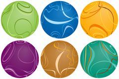 Swirly balls - stock illustration