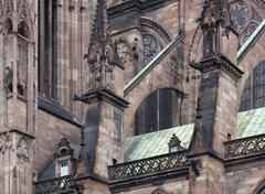 Stock Photo of cathedral in strasbourg closeup