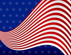 Stars and stripes red white and blue background Stock Illustration