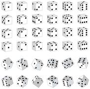 White Dice - stock illustration