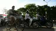 Stock Video Footage of Motorbikes at Traffic Lights in Hue, Vietnam