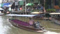 Passenger Boat Passing at Amphawa p18 Stock Footage