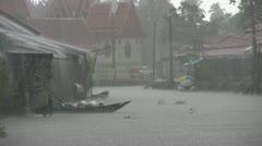 Heavy Rain at Aimphawa Stock Footage