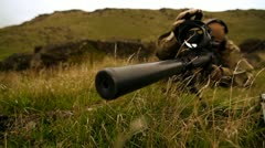 Stock Video Footage of Sniper