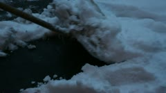 Clear snow 04 Stock Footage