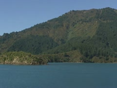 Marlborough Sounds, New Zealand coast - vehicle shot. Stock Footage
