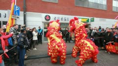 Dragons at Chinese New Year Festival Stock Footage