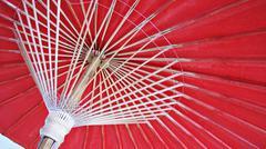 Japanese Traditional Paper Umbrella Stock Photos