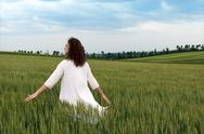 Striding through the fields of glory Stock Photos
