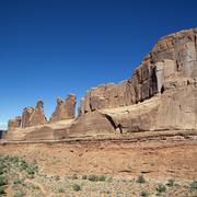 Stock Photo of red rocks in arches national park