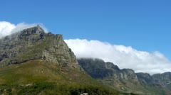 cloud time lapse on table mountain - stock footage