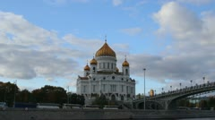 Timelapse of the main Russian Church in the center of Moscow Stock Footage