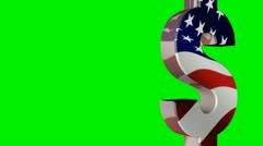 Dollari ja Englannin Money Symbol Pyyhi Arkistovideo