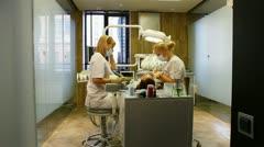 Dentistry. dental treatment. Stock Footage