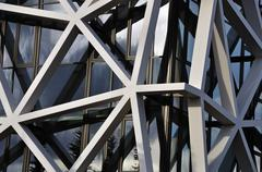 Building facade with asymmetric pattern Stock Photos