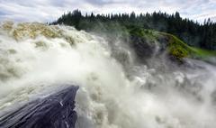 Waterfall in sweden , tännforsen Stock Photos