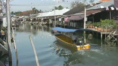 Boat on the river at Amphawa Stock Footage