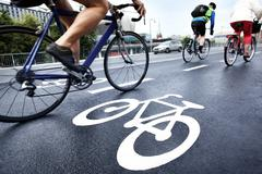 Stock Photo of bike lane