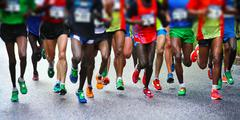 Stock Photo of marathon runners